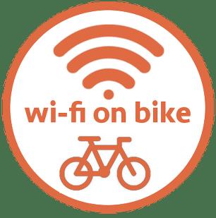 Offriamo piccolo modem wi-fi per i tuoi viaggi in bicicletta
